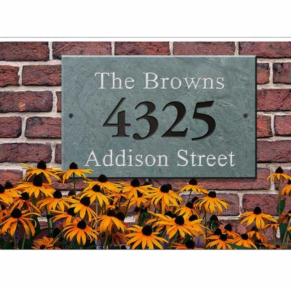 Large Slate Address Plaque