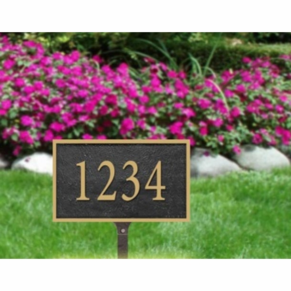 Lawn Mount Address Plaque