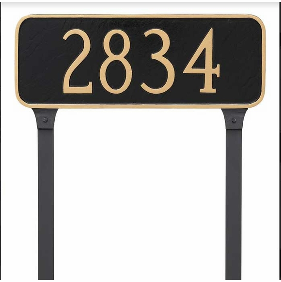 Lawn Mount Rectangular House Sign