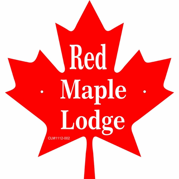 Custom Maple Leaf Shape Sign