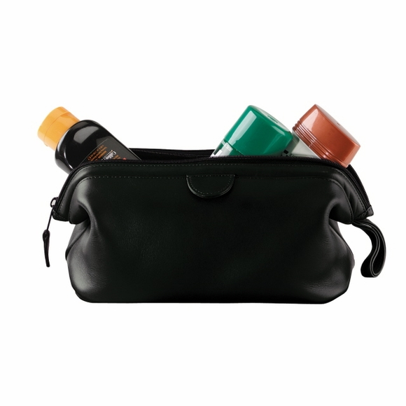 Leather Monogrammed Toiletry Bag