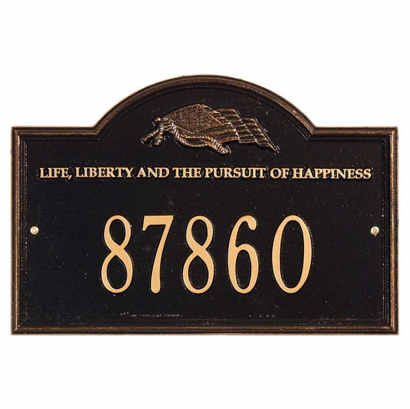 Life and Liberty Personalized Address  Plaque