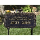 Life is Short, Stop to Smell the Flowers Along the Way Garden Plaque