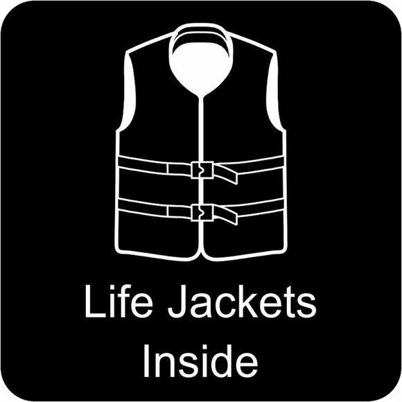 Life Jacket Location Sign for Boats