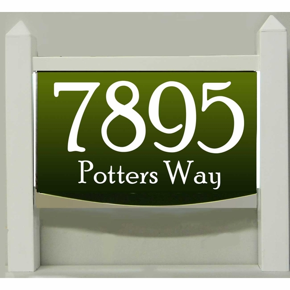 Light Up Lawn Mount Address Plaque