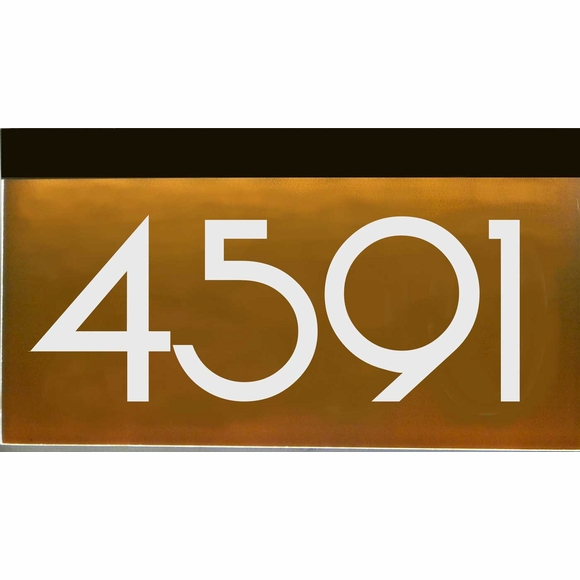 Light Up Wall Mount House Number Plaque - Choose 120V, Low Voltage, or Solar