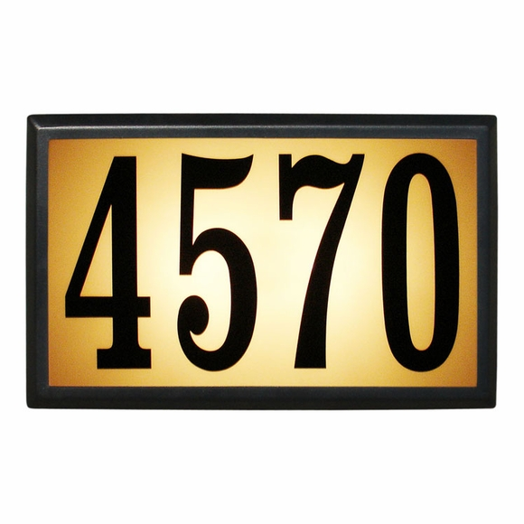 Lighted Address Plaque With Large Numbers