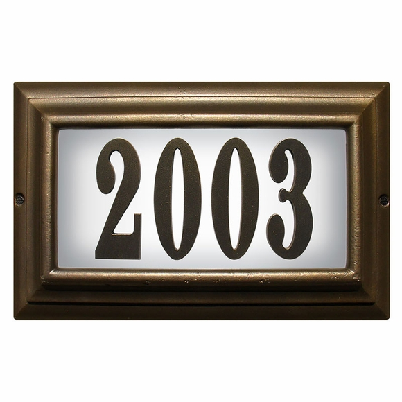 Lighted Home Address Plaque