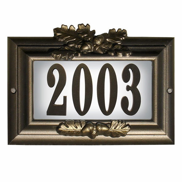 Lighted Home Address Plaque With Decorative Frame