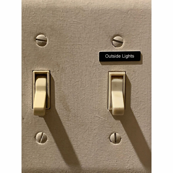 Lightswitch Labels - Custom Made Stick On Label To Mark Any Light or Switch