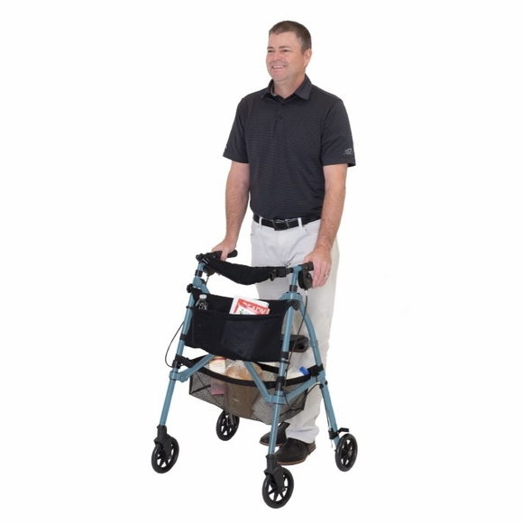Lightweight Rolling Folding Walker With Four Wheels and Seat
