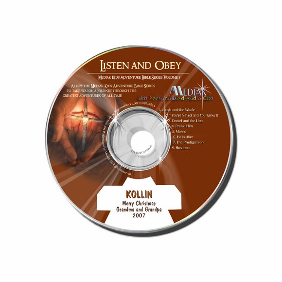 Listen and Obey Bible Song & Story Audio CD for Children