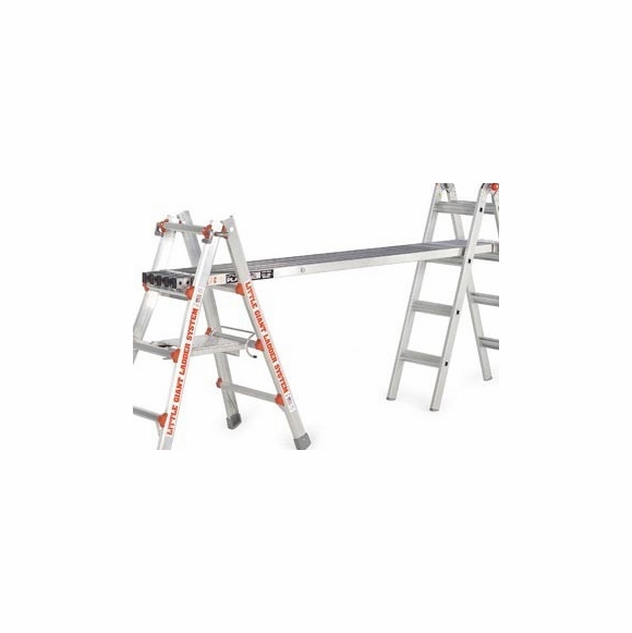 Little Giant Telescoping Work Plank To Turn Ladder Into Scaffolding