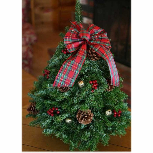 Live Decorated Balsam Tabletop Christmas Tree