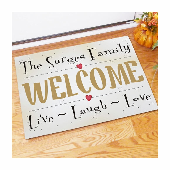 Live, Love, Laugh Personalized Doormat