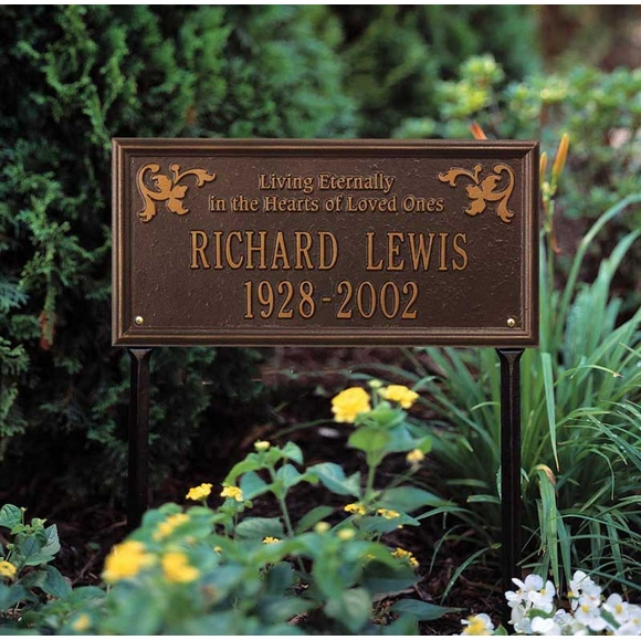 Living Eternally In The Hearts of Loved Ones Memorial Lawn Plaque