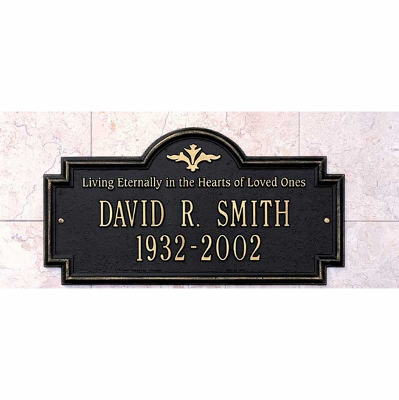 Living Eternally In The Hearts of Loved Ones Personalized Memorial Marker Wall Mount