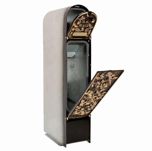 Decorative Locking Mailbox For Masonry Column Holds Packages