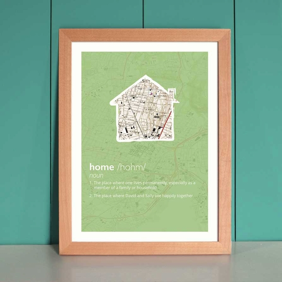 Love, Home, or Marriage Framed Definition Print