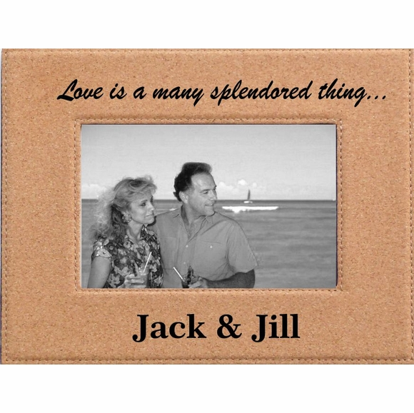 Love Is a Many Splendored Thing Personalized Cork Photo Frame