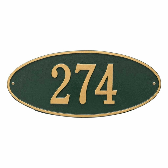 Oval Home Address Plaque - House Number Sign - Choose From 11 Colors