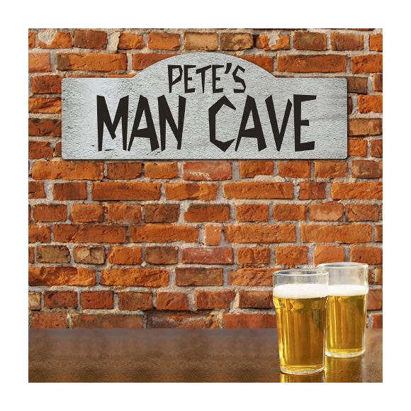 Man Cave Personalized Wall Sign