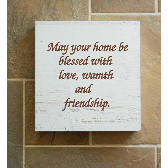 May This Home Be Blessed with Love and Friendship Wall Art