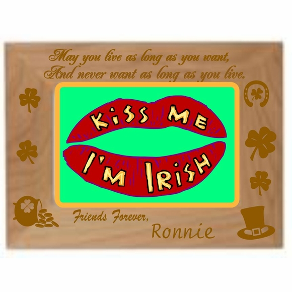 May You Live As Long As You Want  Personalized St. Patrick's Day Picture Frame