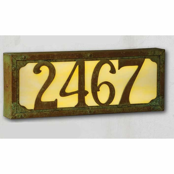 Medium Art & Crafts Lighted Address Sign