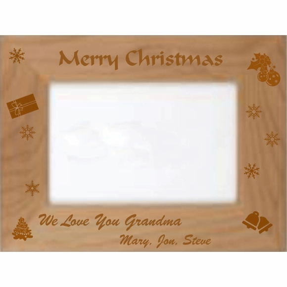 Merry Christmas Personalized Custom Engraved Christmas Gift Picture Frame