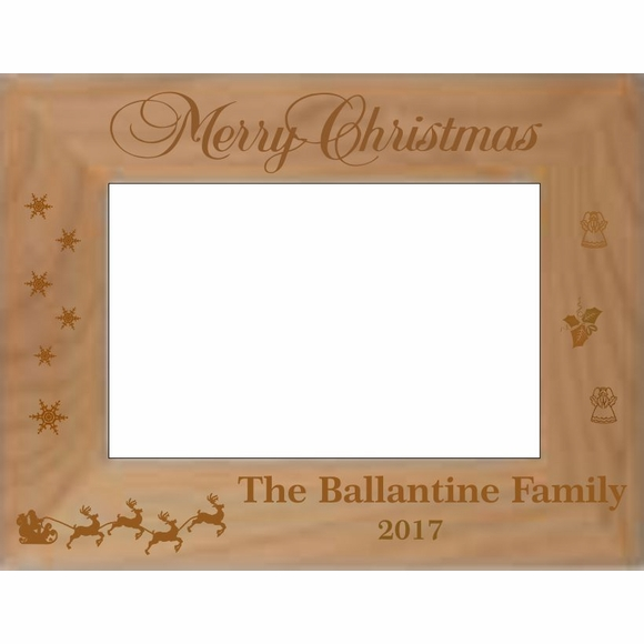 Merry Christmas Personalized Picture Frame
