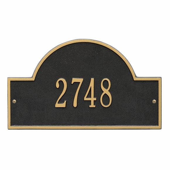 Metal Address Plaque: House Number Plaque