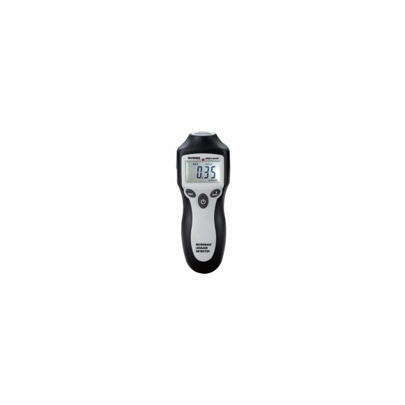 Microwave oven leak detector with digital readout