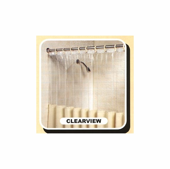 Mildew Resistant Shower Curtain with Clearview Top