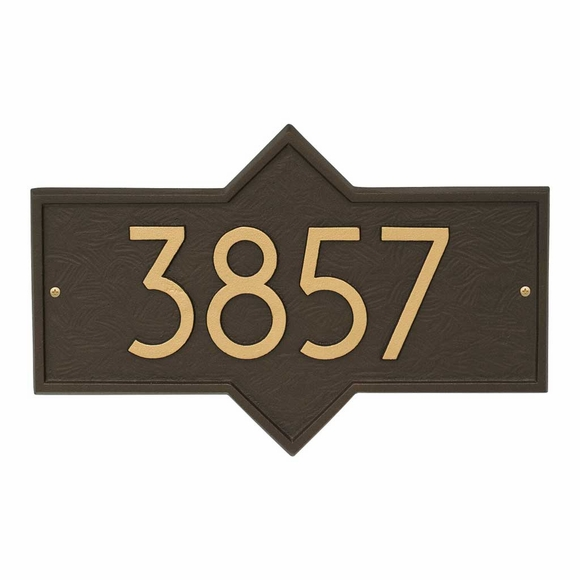 Modern Font Address Plaque - Unique Shape House Number Sign