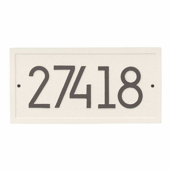 Modern Rectangle Address Plaque