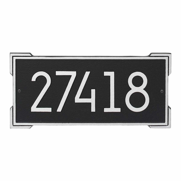 Modern Rectangle Address Plaque Meets 911 Codes