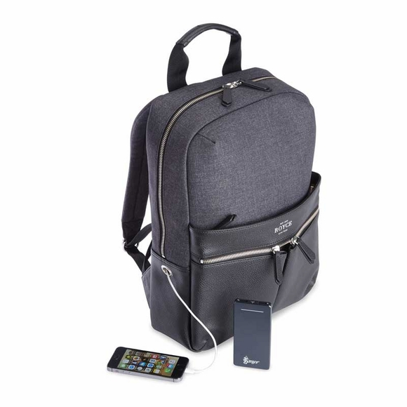 Monogrammed Backpack With Built In Charger