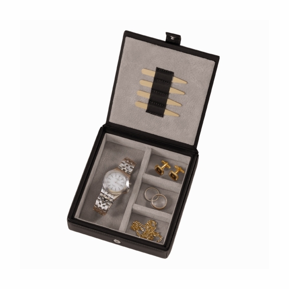 Monogrammed Cufflink and Watch Box