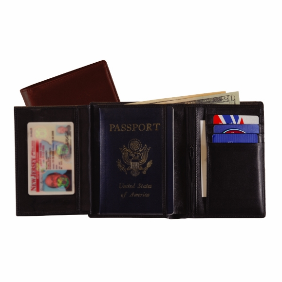 Monogrammed European Passport Wallet