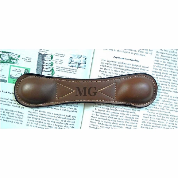 Monogrammed Leather Bookmark