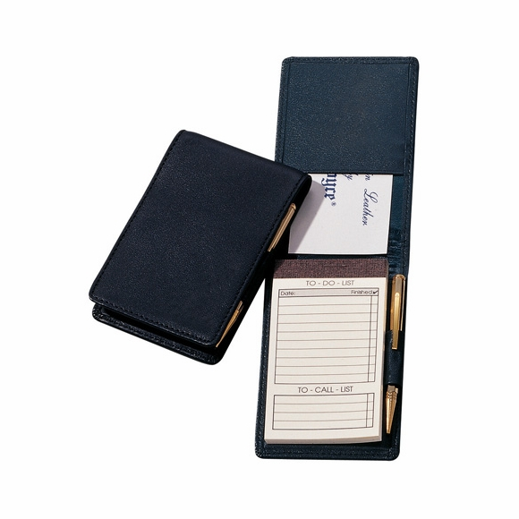 Monogrammed Leather Flip Style Note Pad