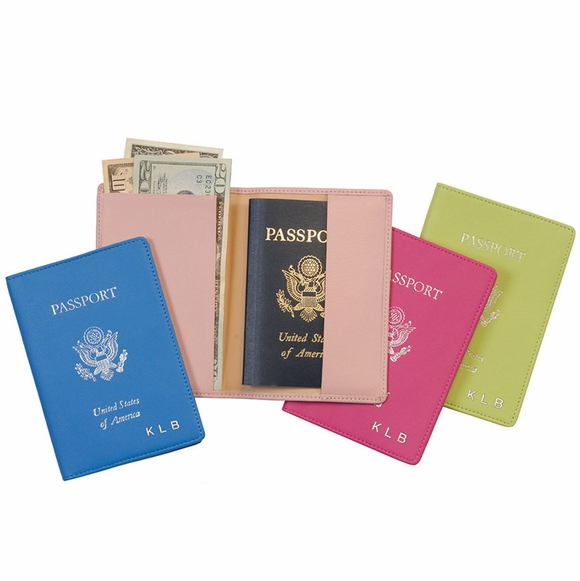 Monogrammed Passport Case with USA Seal