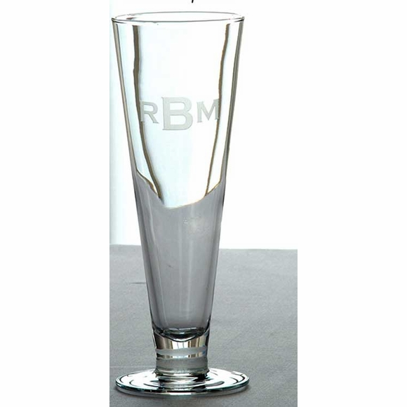 Monogrammed Pilsner Glasses Set of 4
