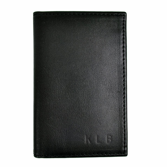 Monogrammed RFID Blocking Leather Credit Card Case