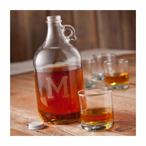 Monogrammed Whiskey Growler