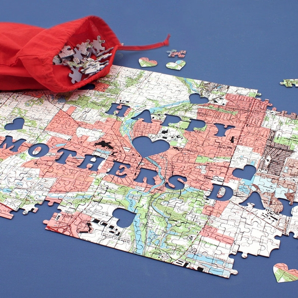 Mothers Day Gift Puzzle - Custom Map Jigsaw