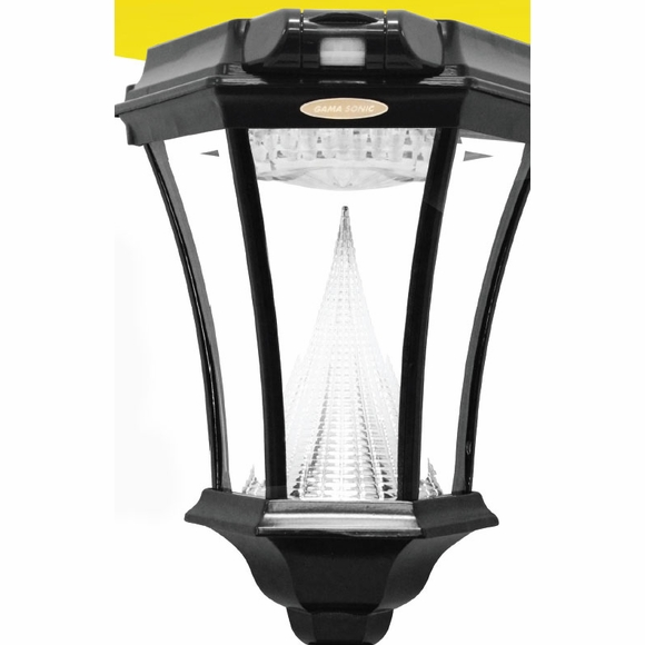 Victorian Style Motion Sensor Solar Lamp For Wall, Pole, or Deck Mount