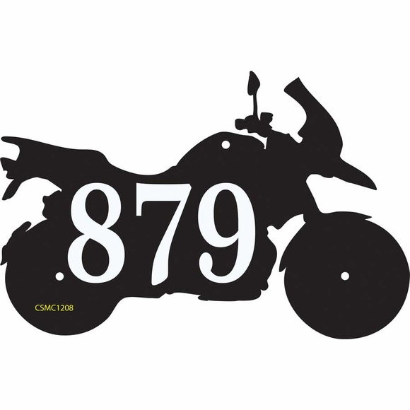 Motorcycle Shape Address Plaque