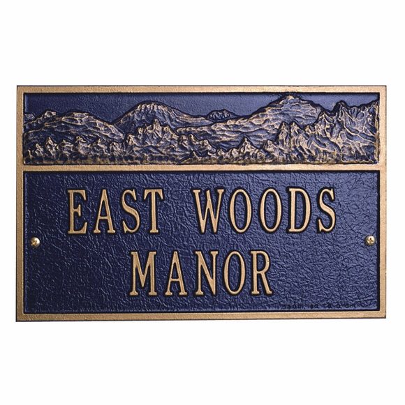 Mountain View Personalized Address Sign